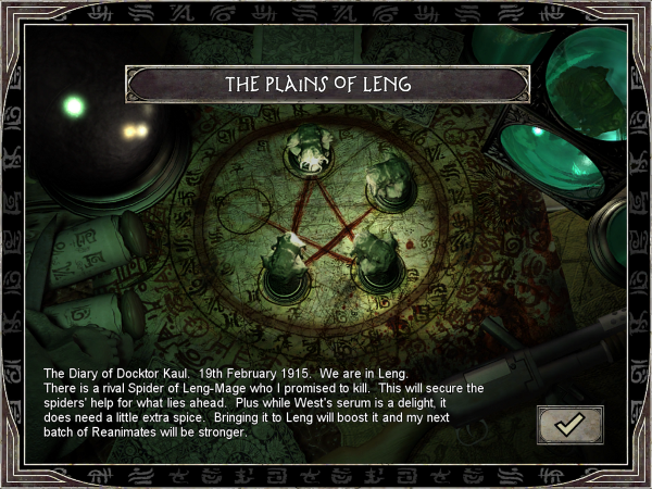 Kaul's Diary: Loading screen for The Plains of Leng